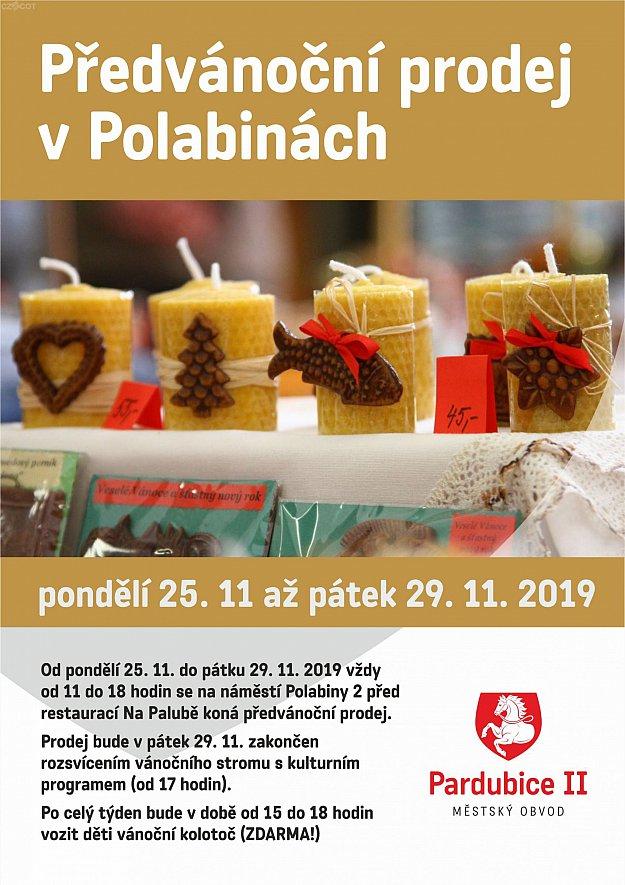 Předvánoční prodej v Polabinách