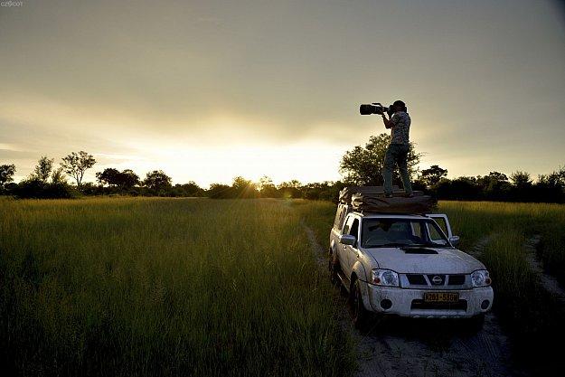Okavango: ze země, ze vzduchu, pod vodou