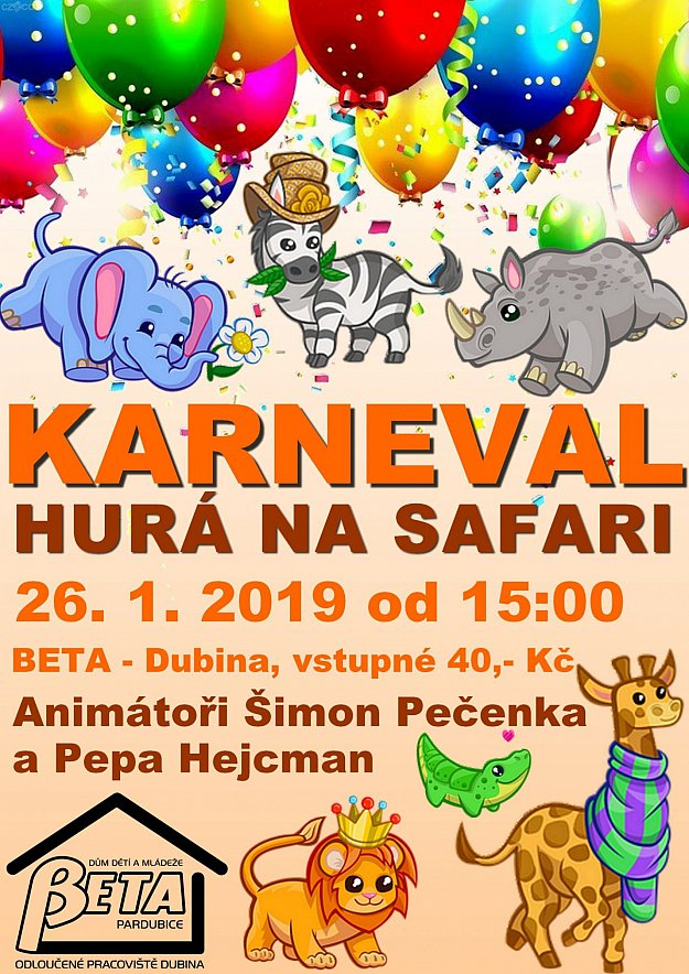 Hurá na safari - karneval