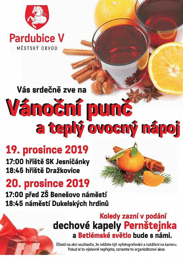 Vánoční punč a teplý ovocný nápoj