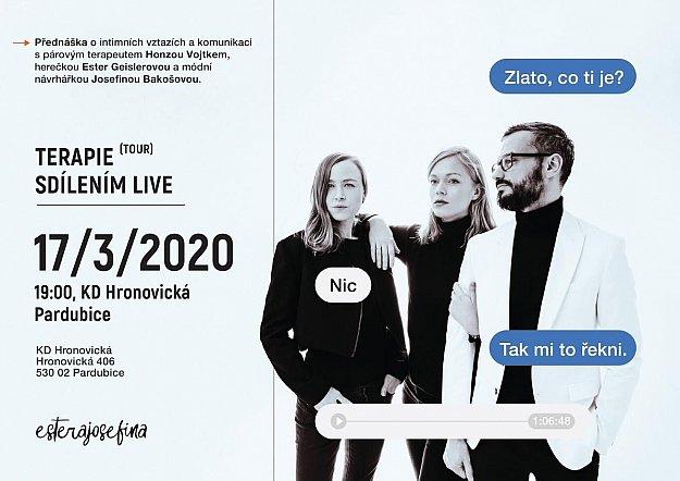 Terapie sdílením - live tour 2020