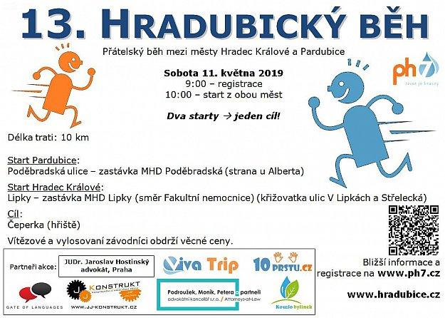 13. Hradubický běh (start Pardubice)