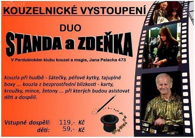 Kouzelnické vystoupení: duo Standa a Zdeňka