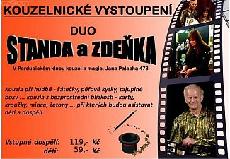 Kouzelnické představení pro děti - duo Standa a Zděňka