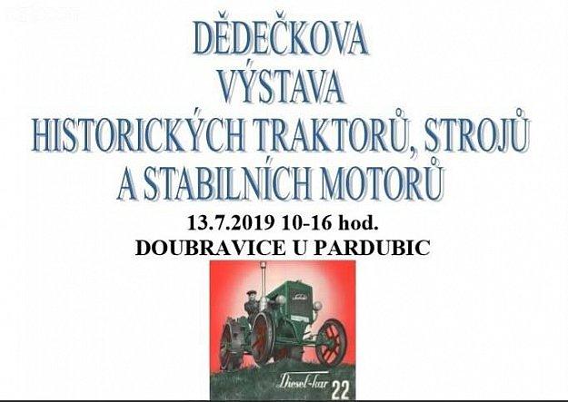 Dědečkova výstava historických traktorů, strojů a stabilních motorů