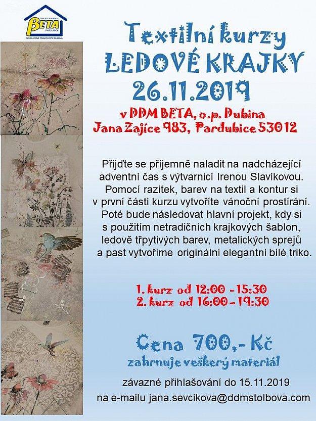 Textilní kurz Ireny Slavíkové - ledové krajky