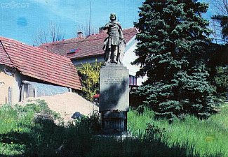 Kamenná socha sv. Václava